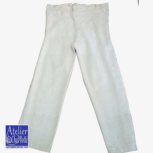 Pantalon à grand pont, coton, jambes longues