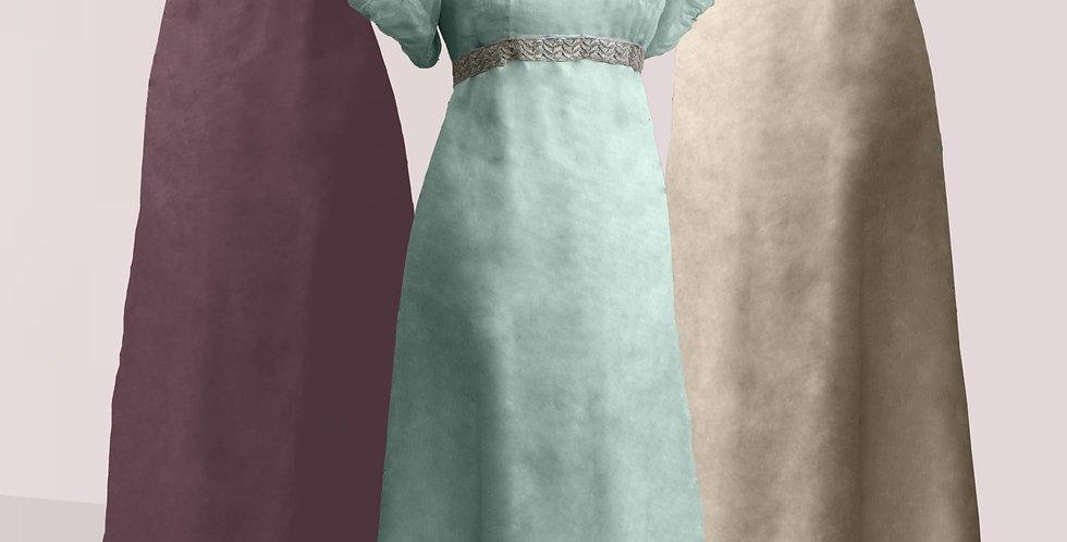 VAPOREUSE, robe enmousseline de soie qui lui donnetoute salégèreté