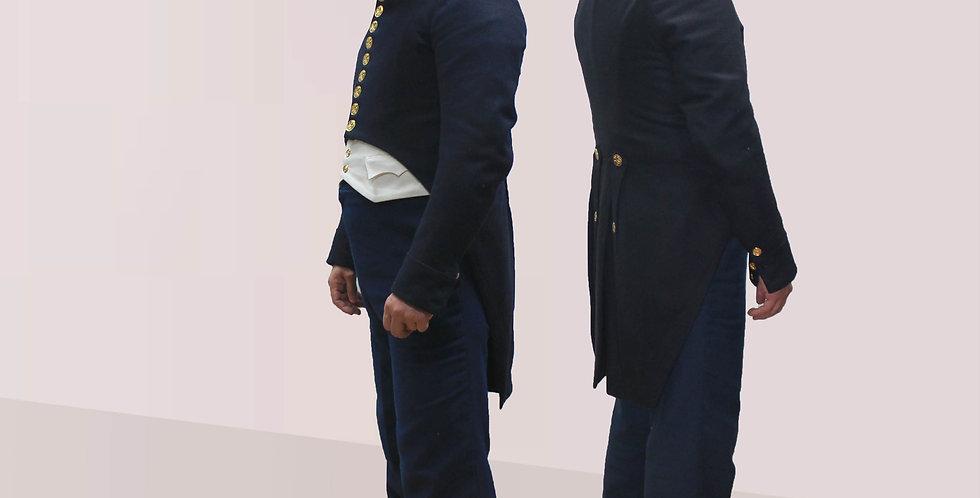 Ensemble DEMI-SOLDE, en drap de laine coupé selon la mode Empire