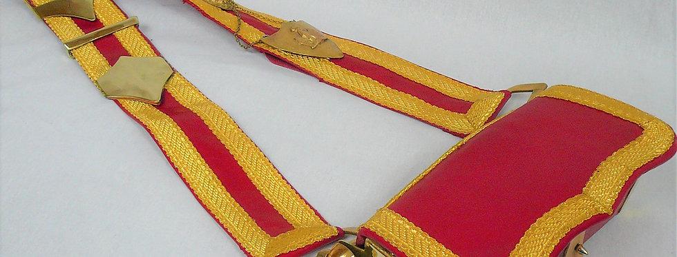 Giberne avec banderole. Officier de cavalerie