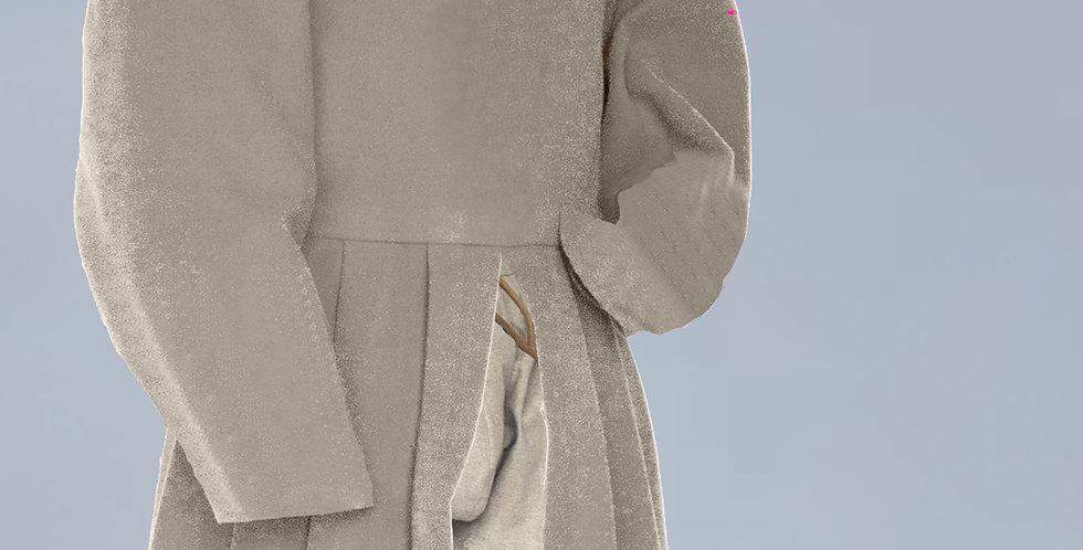 POURPOINT LONG BASAL, modèle porté par le peuple, les paysans; choix de tissus
