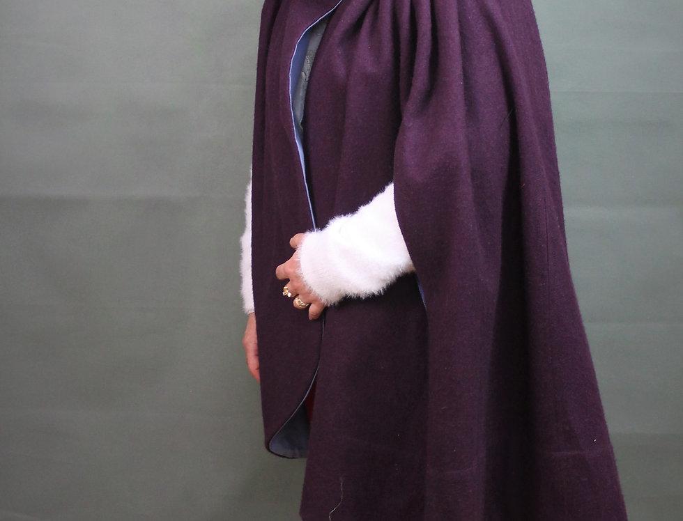 """Manteau-cape """"Capucine"""" à grande capuche"""