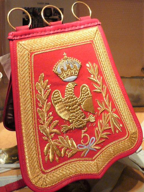 Sabretache d'Officier du 5 eme  régiment de Hussard