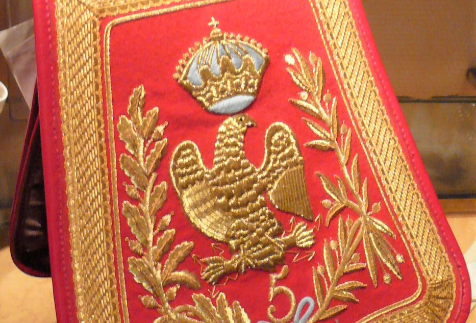 Sabretache of Officer of the 5 th regiment of Hussard