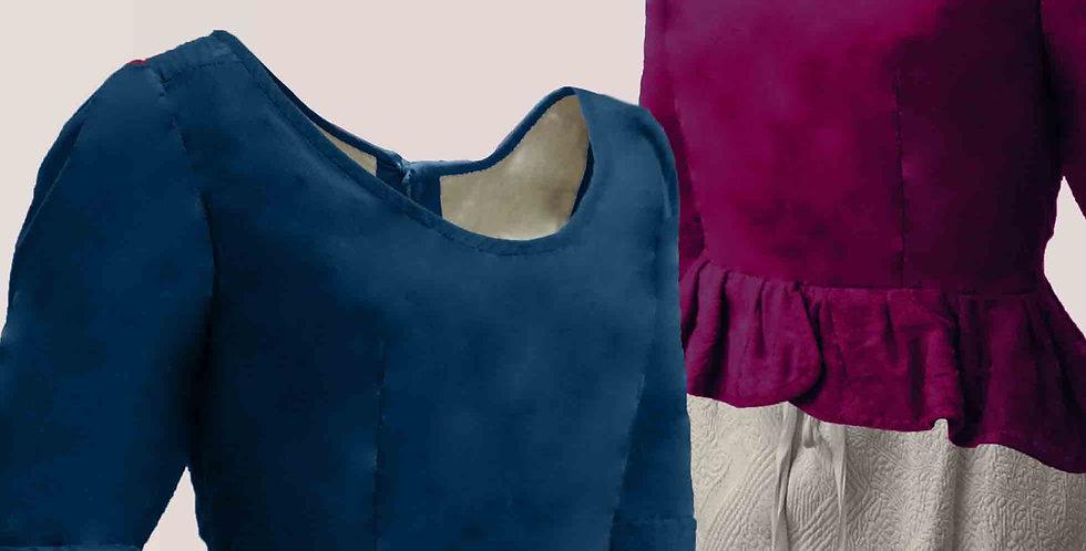 TRADITION, le casaquin populaire, choix de tissus et de couleur, drap ou damassé
