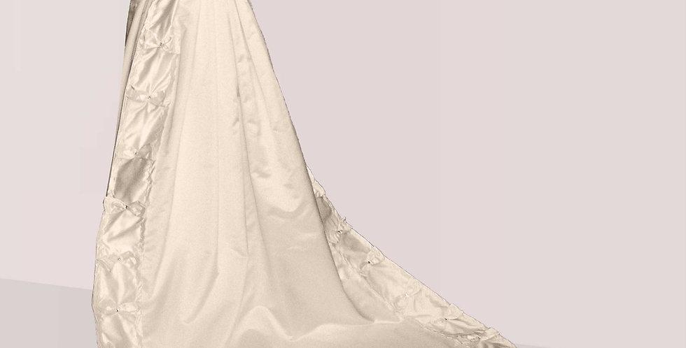 DOUCEUR, manteau de robe à traîne 100% en soie naturelle