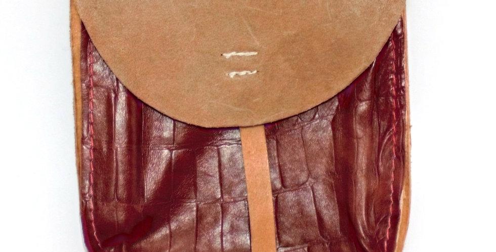 Escarcelle en cuir véritable ( 19 * 20 cm)