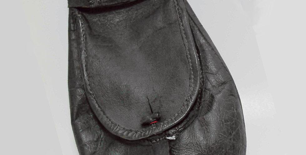 """Escarcelle  en cuir naturel, modèle """"Aubergine"""", Hauteur 33 cm"""
