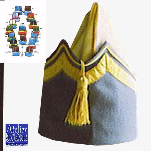 Bonnet de police, Régiment de Hussard, Officier
