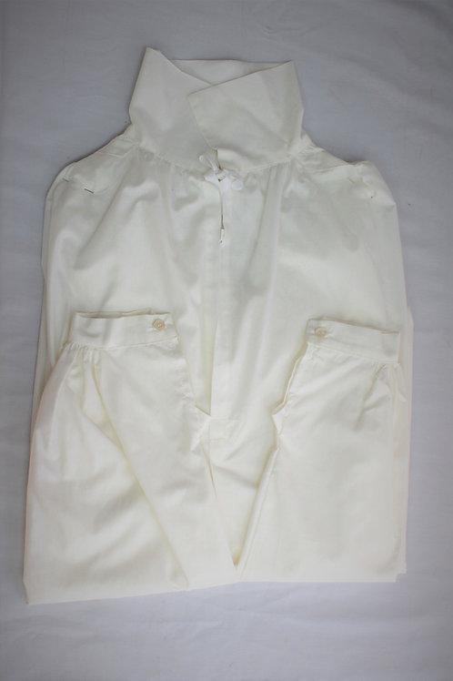 Chemise coton blanc, troupe