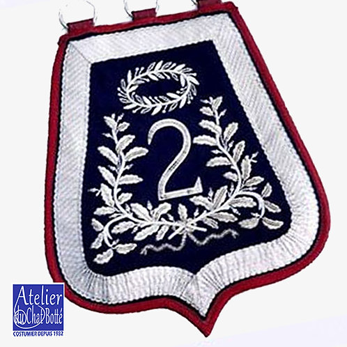Sabretache d'Officier du 2em régiment de Hussard