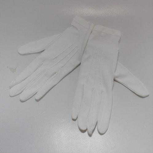 Gants blanc 100% coton