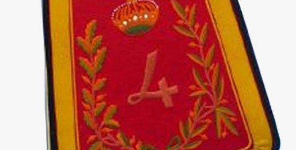 Sabretache du 4em régiment de hussard. troupe