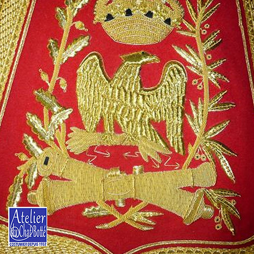 Sabretache d'Officier de régiment d'artillerie à Cheval