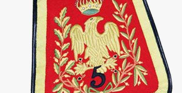 Sabretache du 5em Régiment de Hussard,troupe
