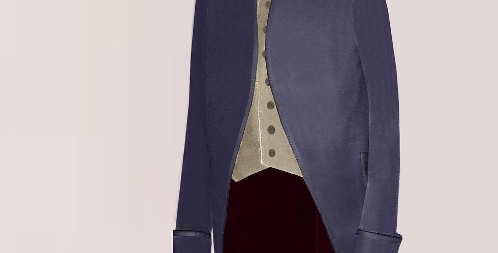 LE SOYEUX, habit à la française entièrement en soie, large choix de colories