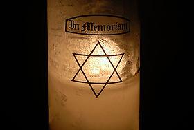 Holocaust memorial candle