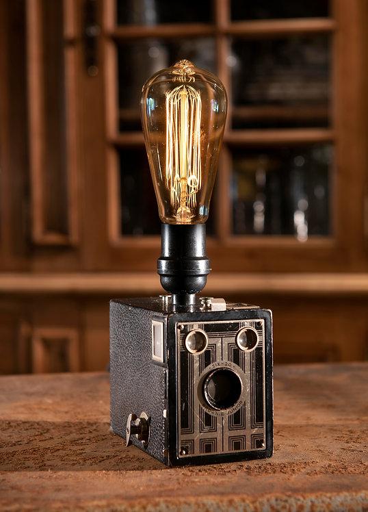 Box O' Brownie; Brownie Junior six-20 camera lamp