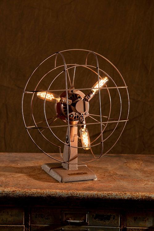 Turbo; Vintage Kenmore oscillating fan lamp
