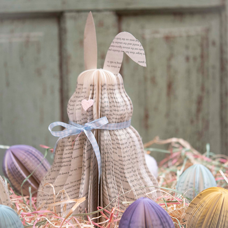 Book Easter Bunny (Shown with book eggs)