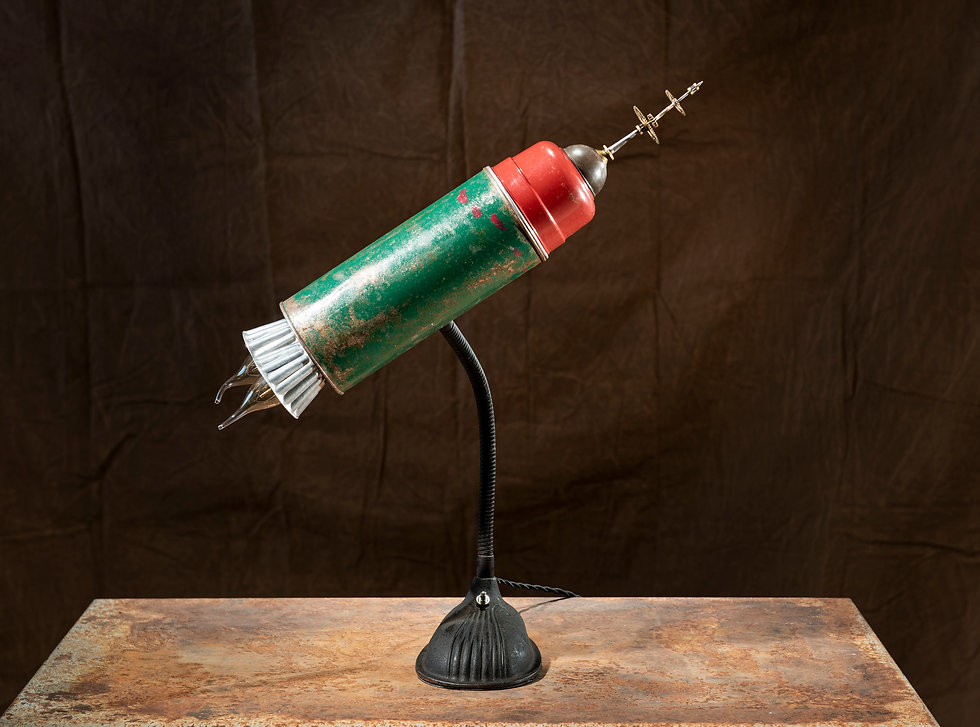 SCUD; thermos rocket lamp