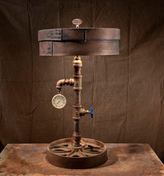Grain sifter pipe lamp