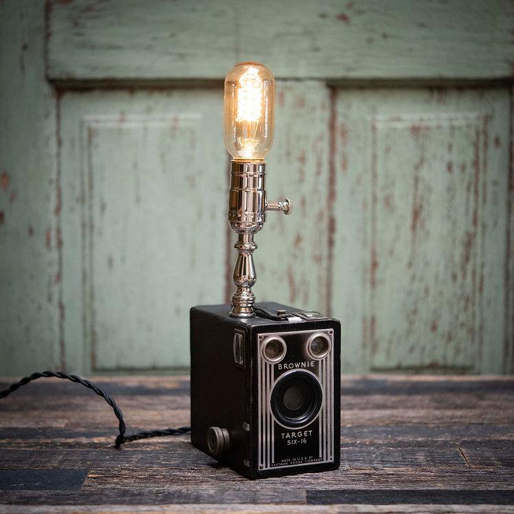 Kodak Brownie Six-16 box camera lamp