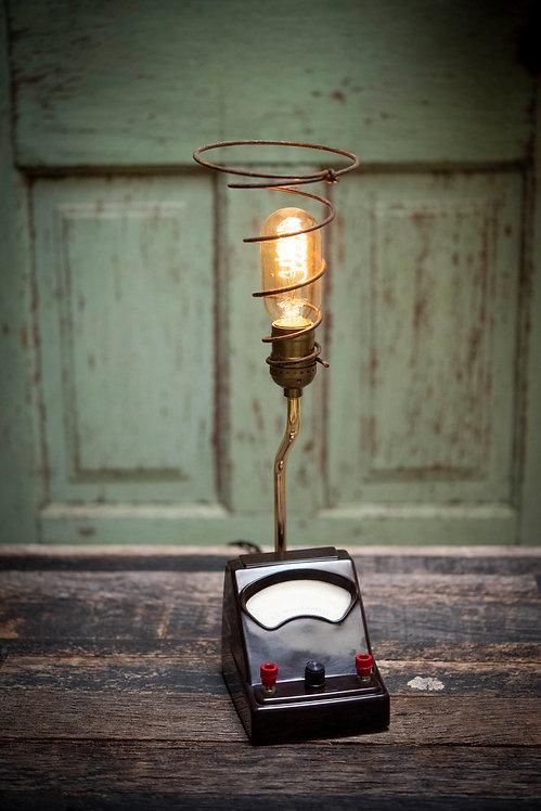"""Vintage Milliamperes """"Amp Meter"""" Lamp"""