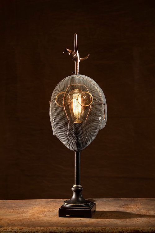 Pierre, fencing mask lamp