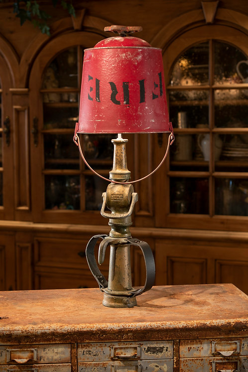 Rampart; Fire Nozzle and Fire Bucket Lamp