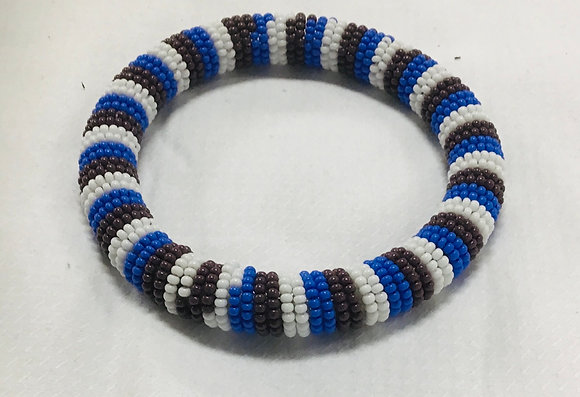 Beaded Bangle, white, blue, maroon, you can stack them at this price