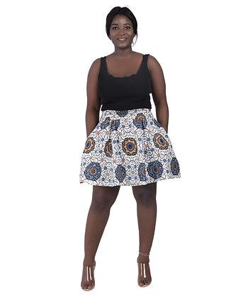 African Print Short Length Skirt