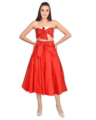 African Print Mid Length Skirt