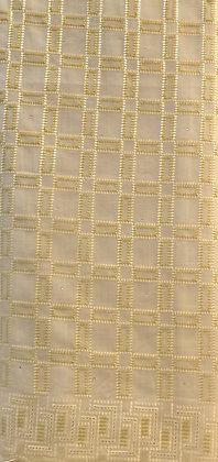 White & Gold Lace Fabric