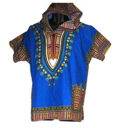 Blue Dashiki w/ Hood