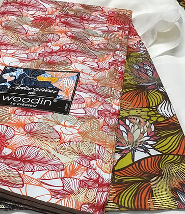 Woodin Print Fabric, made in Mali, sold by the yard