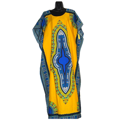 Yellow Dashiki Dress (Long)