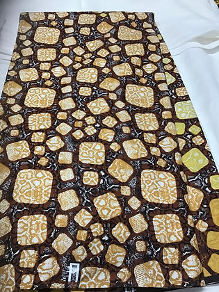 Woodin Print Fabric, gold, yellow, burgundy, squares