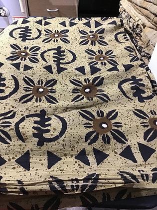 African Mud Cloth PRINT Fabric - #103 - beige/brown