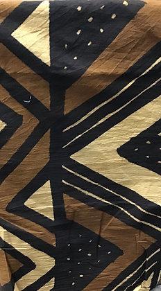 African Mud Cloth PRINT Fabric - #84, beige, tan, black, white, creme