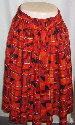 Kente Mid-Length Skirt
