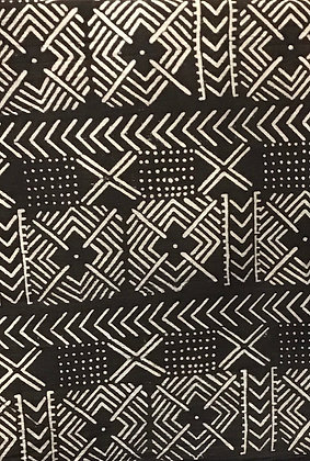 African Mud Cloth PRINT Fabric - #40