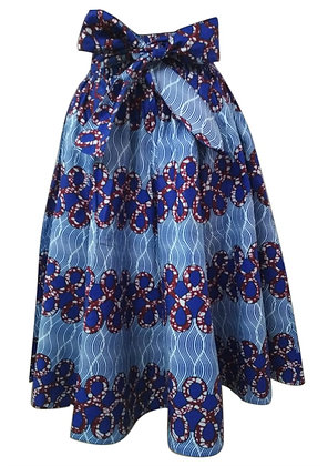 African Print Mid Length Skirt
