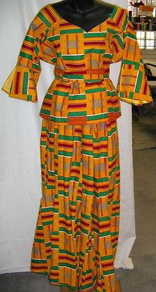 Women's Kente Cloth 2 PC Set