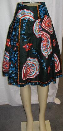 Mid-Length African Print Skirt