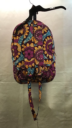 African Print Back Pack
