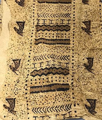 African Mud Cloth PRINT Fabric - #90 - beige/brown