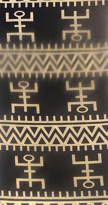 Black & Creme African Print Fabric (Abis Abeba)