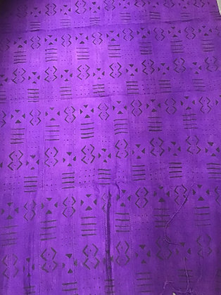 Hand Woven Mud Cloth (65) purple