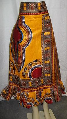 Dashiki Print Skirt